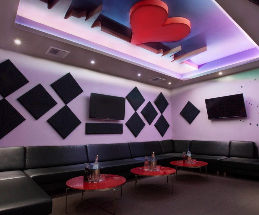 Oishii sushi and heartbeat ktv lounge living room lounge for Living room karaoke